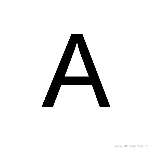 Backwards Font Alphabet A