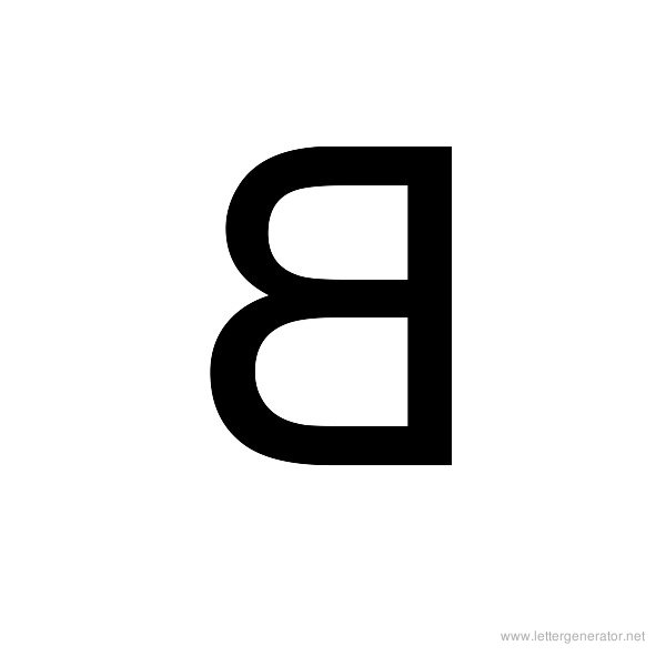 Backwards Font Alphabet B