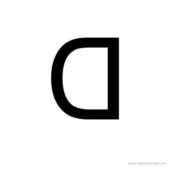 Backwards Font Alphabet D