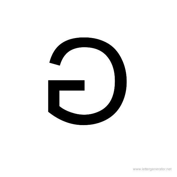 Backwards Font Alphabet G