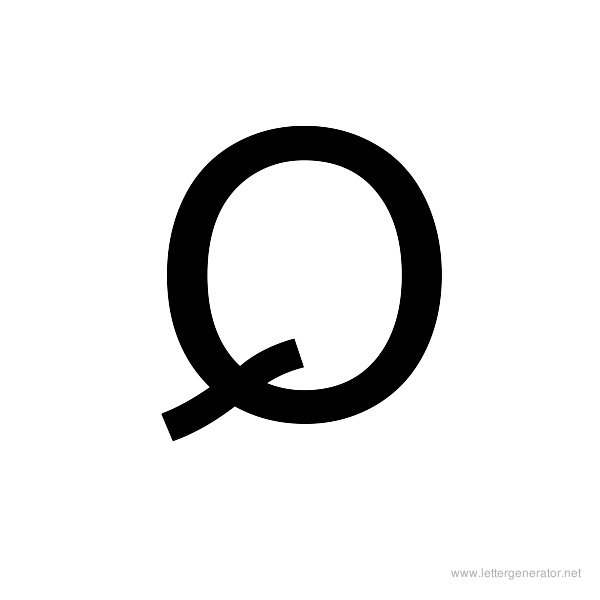 Backwards Font Alphabet Q