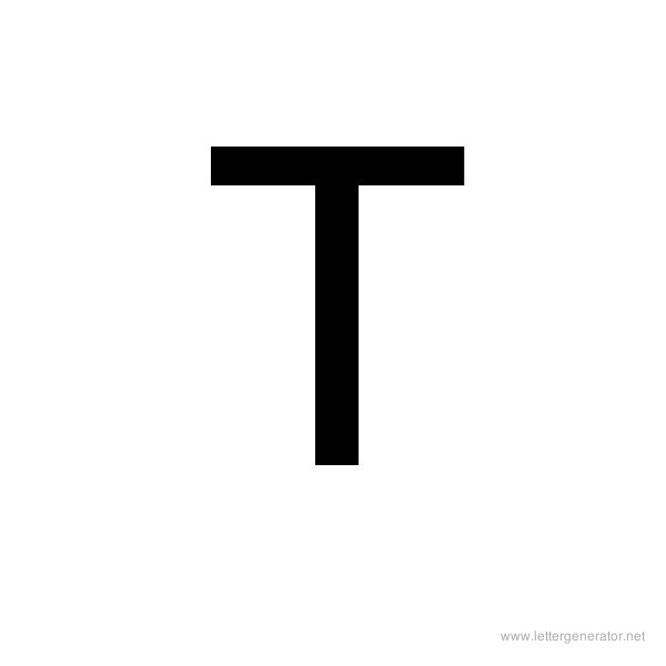 Backwards Font Alphabet T