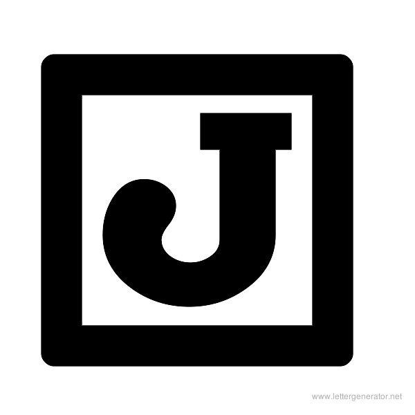 ChockABlockNF Font Alphabet J