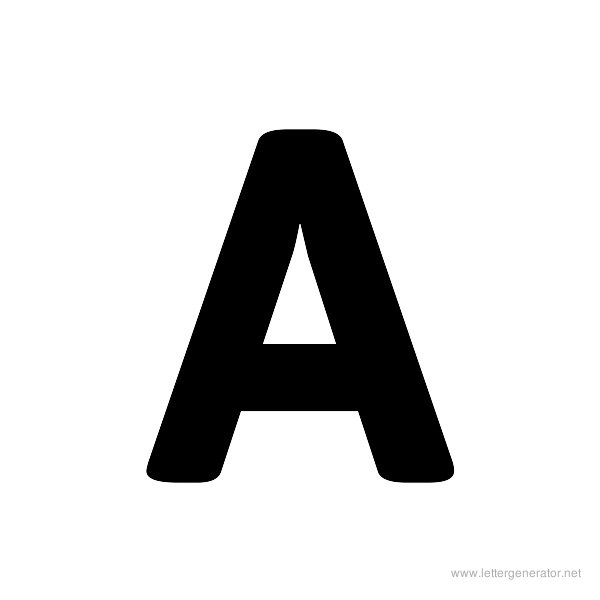 Bold Alphabet Gallery Free Printable Alphabets Letter Generator. Asap Font Alphabet A. Printable. Printable Letter A At Mspartners.co