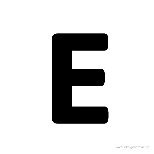 graphic about Printable Letter E called Formidable Alphabet Gallery - No cost Printable Alphabets LETTER