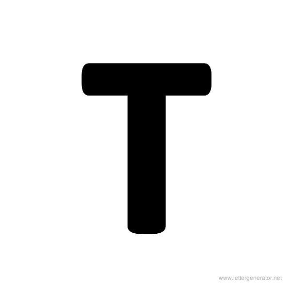 image relating to Printable T identified as Formidable Alphabet Gallery - Free of charge Printable Alphabets LETTER