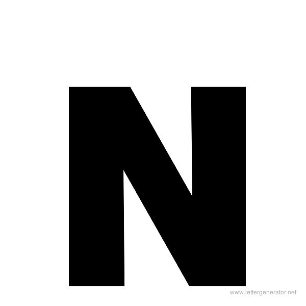 graphic relating to Printable Letter N titled Ambitious Alphabet Gallery - No cost Printable Alphabets LETTER