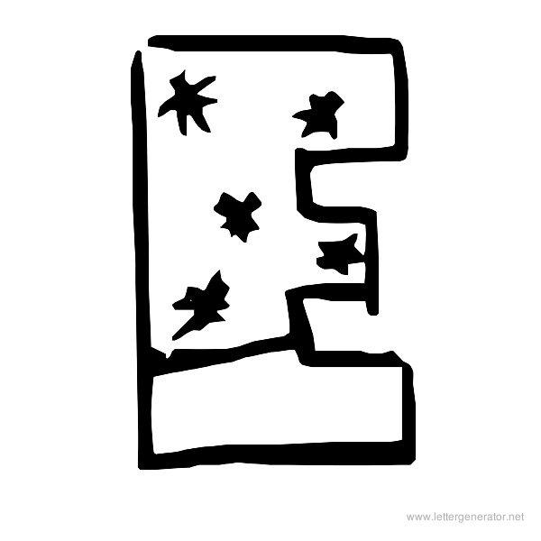 Snowfall Font Alphabet E