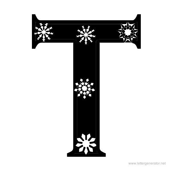 Snowflake Font Alphabet T