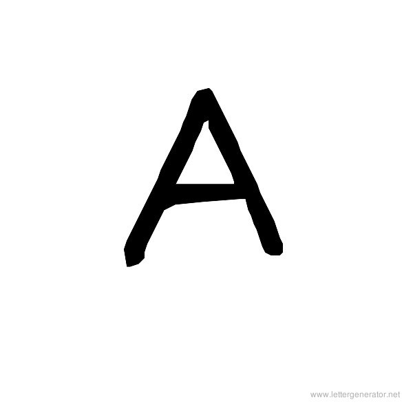 The COOL Font Alphabet A