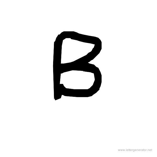 The COOL Font Alphabet B