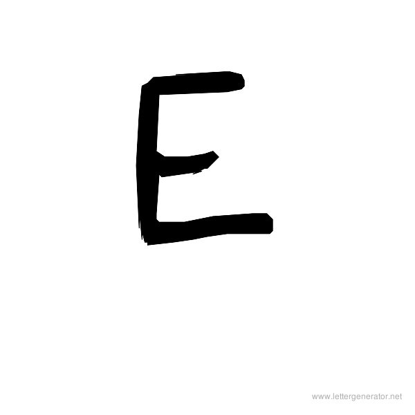 The COOL Font Alphabet E