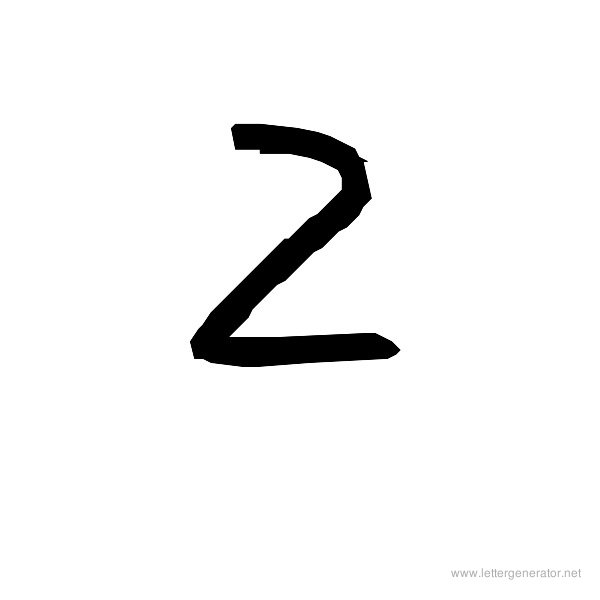 The COOL Font Alphabet Z