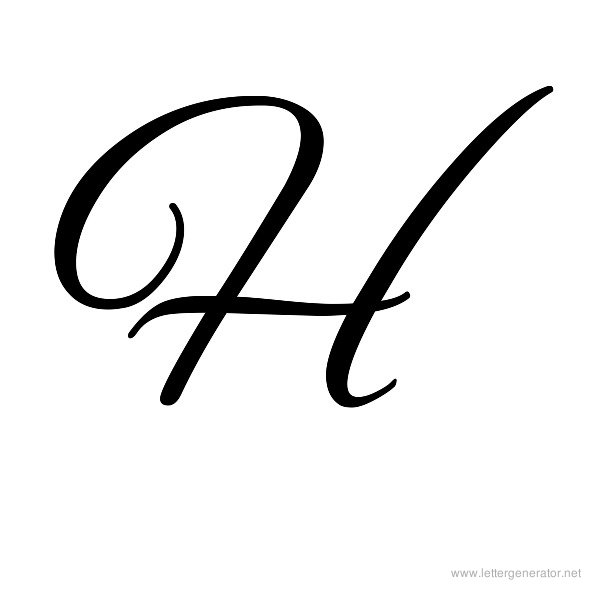 Alex Brush Font Alphabet H