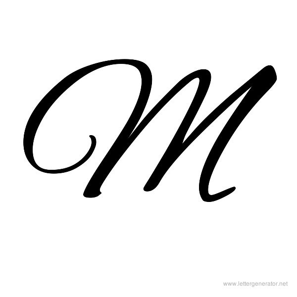 Alex Brush Font Alphabet M