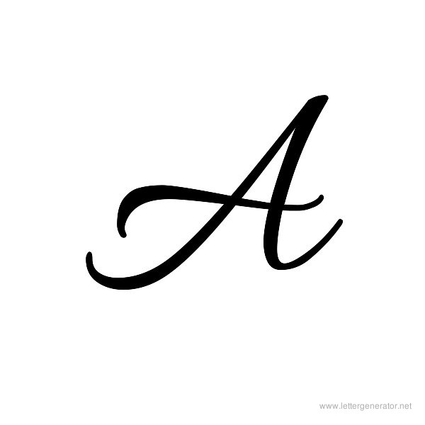 The Letter A In Cursive - Laptuoso