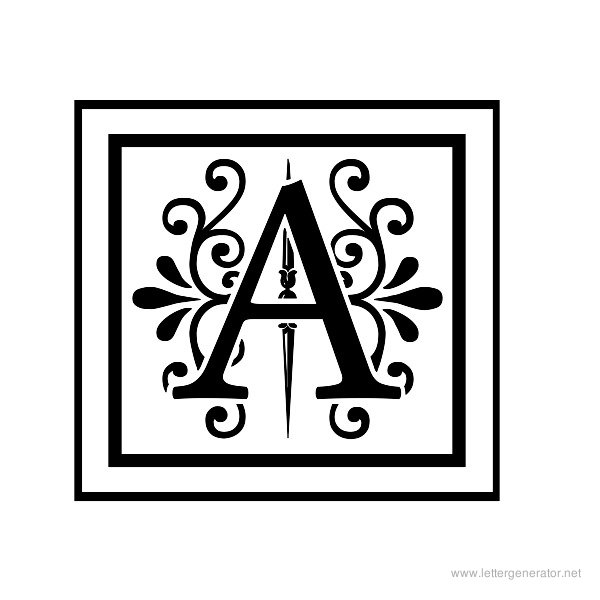 image relating to Font Printable called Ornamental Alphabet Gallery - Free of charge Printable Alphabets
