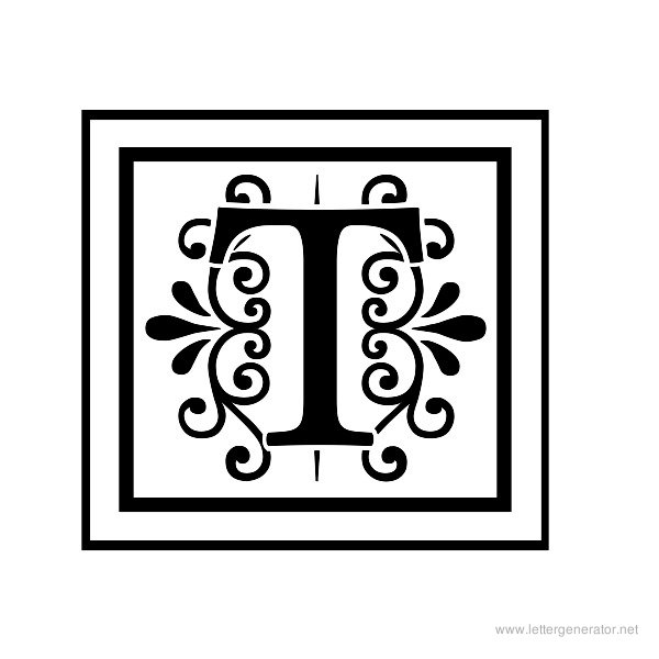 Decorative Letter T decorative alphabet gallery - free printable ...