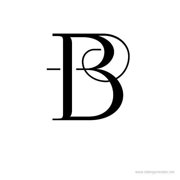 Decorative Letter B Altin Northeastfitness Co