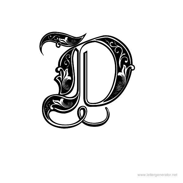 Decorative alphabet gallery free printable alphabets letter aldus royal font alphabet d altavistaventures