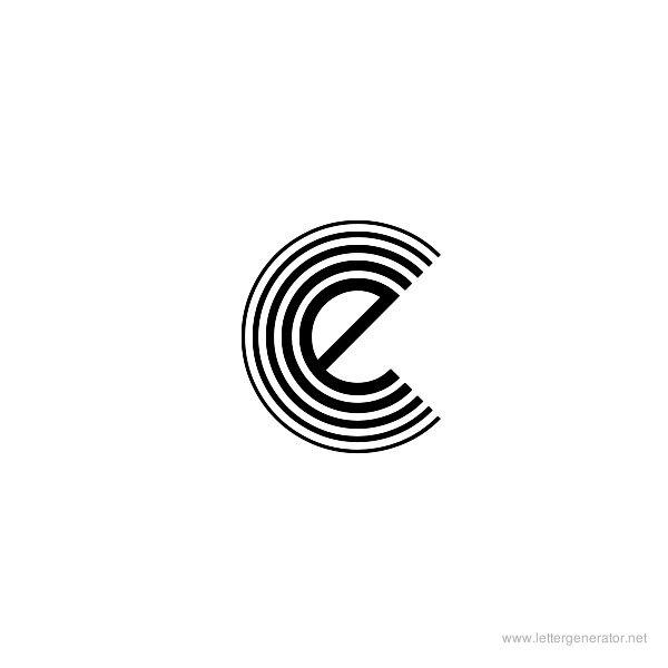 Veselka 4F Font Alphabet E