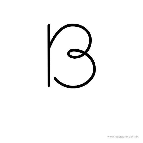 Little Days Font Alphabet B