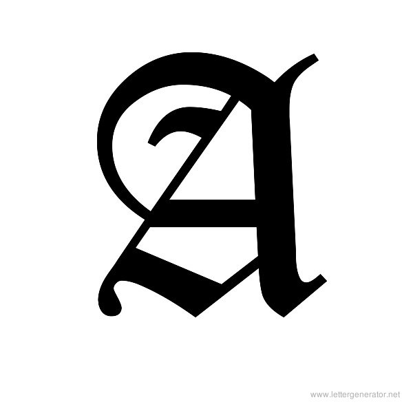 Gothic Alphabet Gallery - Free Printable Alphabets | LETTER