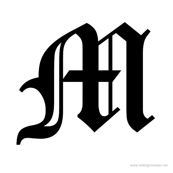 Gothic Alphabet Gallery - Free Printable Alphabets | LETTER GENERATOR ...