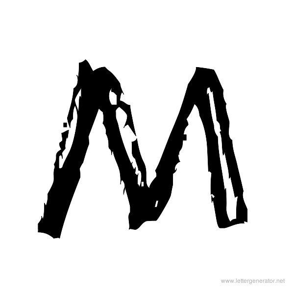 Jump Start Font Alphabet M