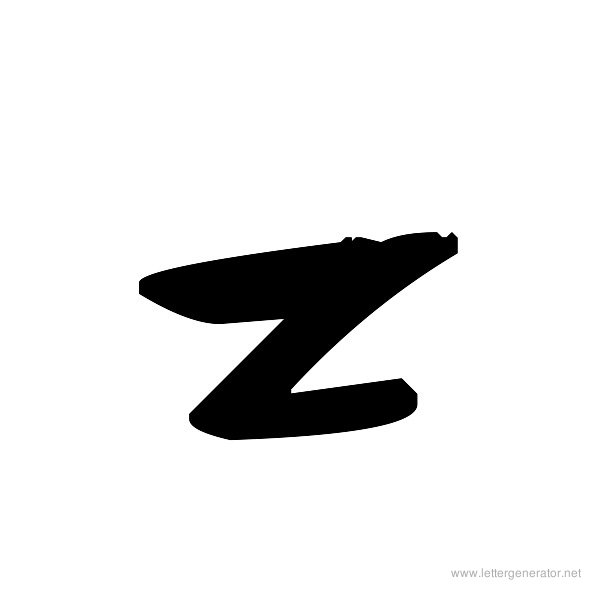 Rough Graffiti Font Alphabet Z