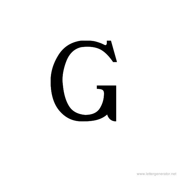 Ancient Geek Font Alphabet G