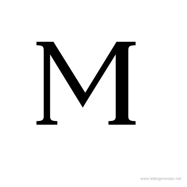 Ancient Geek Font Alphabet M