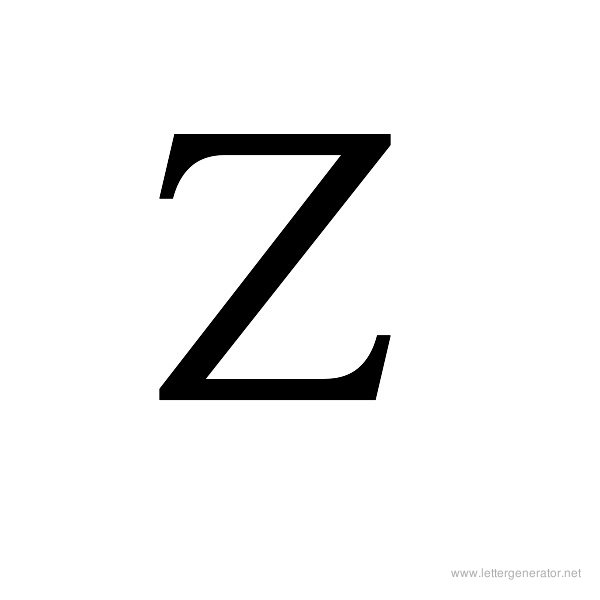 Ancient Geek Font Alphabet Z