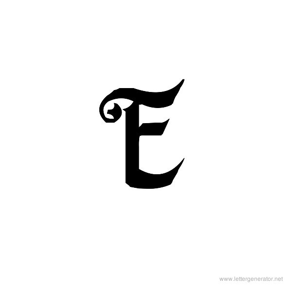 Fiddums Family Font Alphabet E