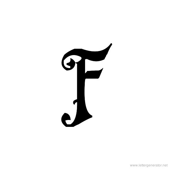 Fiddums Family Font Alphabet F