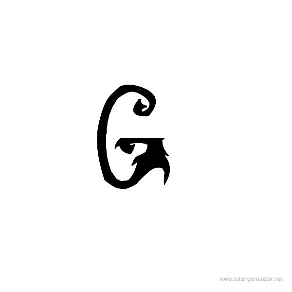 Fiddums Family Font Alphabet G