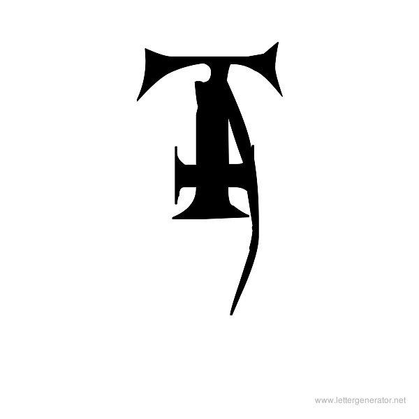 Metal Macabre Font Alphabet T
