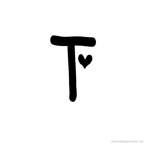 New Best Font For Letter T