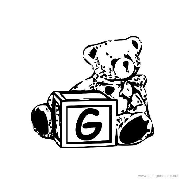 Summer's Bear Blocks Font Alphabet G