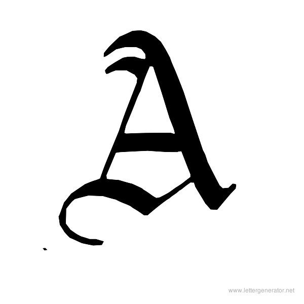 image relating to Printable Letter a called Aged English Alphabet Gallery - Cost-free Printable Alphabets