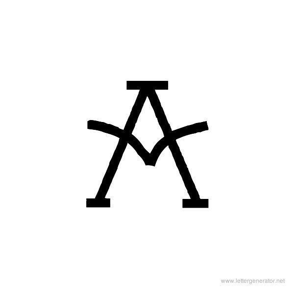 Tattoo Font Alphabet A