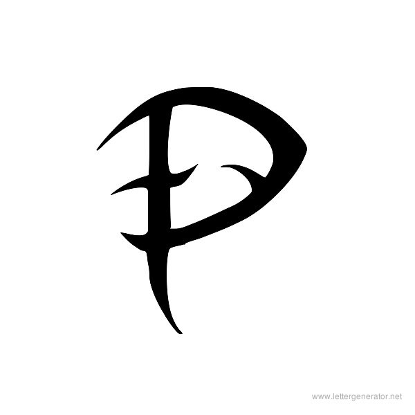 Letter P Tattoos