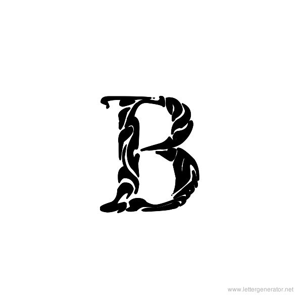 Tribal Garamond Font Alphabet B