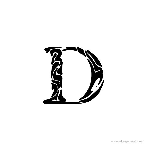 Tribal Garamond Font Alphabet D
