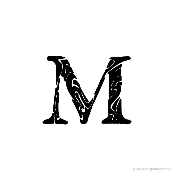 Tribal Garamond Font Alphabet M