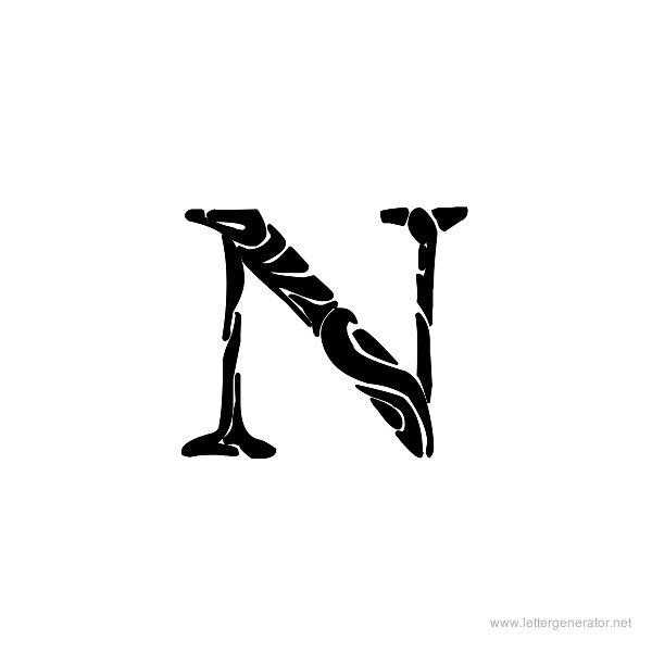 Tribal Garamond Font Alphabet N