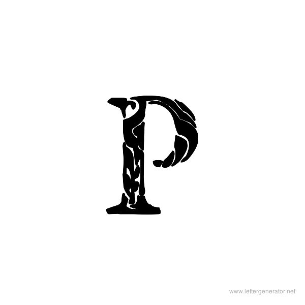 Tribal Garamond Font Alphabet P