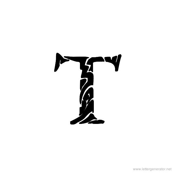 Tribal Garamond Font Alphabet T