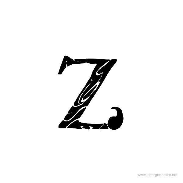 Tribal Garamond Font Alphabet Z