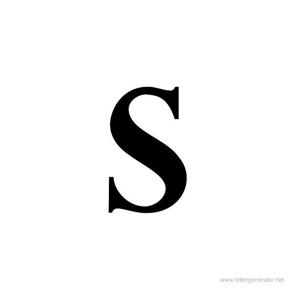 Title Wave Font Alphabet S